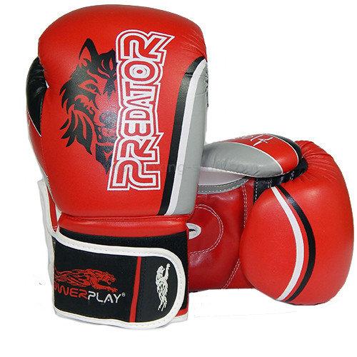 Боксерские перчатки PowerPlay Wolf - Predator series (3005) Red 12 oz